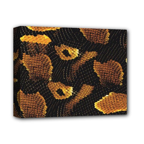 Gold Snake Skin Deluxe Canvas 14  X 11  by BangZart