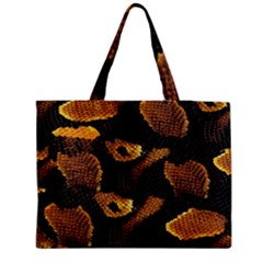 Gold Snake Skin Medium Tote Bag by BangZart