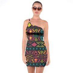 Bohemian Patterns Tribal One Soulder Bodycon Dress