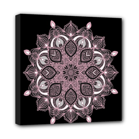 Ornate Mandala Mini Canvas 8  X 8  by Valentinaart