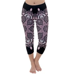 Ornate Mandala Capri Winter Leggings