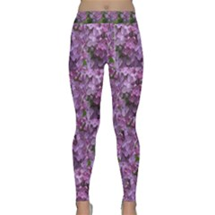 Purple Flowers Classic Yoga Leggings