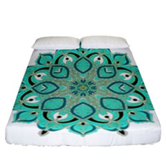 Ornate Mandala Fitted Sheet (california King Size) by Valentinaart
