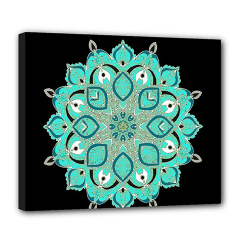 Ornate Mandala Deluxe Canvas 24  X 20   by Valentinaart