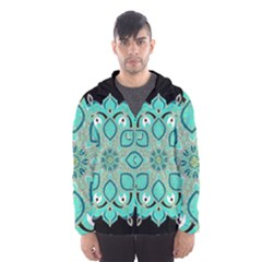 Ornate Mandala Hooded Wind Breaker (men)