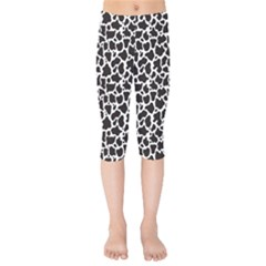 Cow Pattern Background Kids  Capri Leggings  by sifis