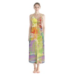 Paint Texture                        Chiffon Maxi Dress by LalyLauraFLM