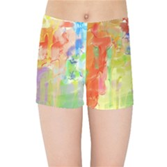 Paint Texture                  Kids  Skinny Shorts by LalyLauraFLM