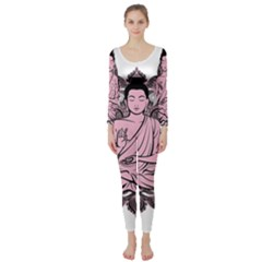 Ornate Buddha Long Sleeve Catsuit