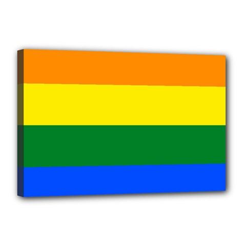 Pride Rainbow Flag Canvas 18  X 12  by Valentinaart
