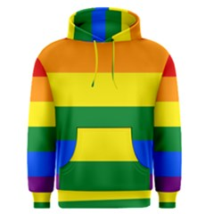 Pride Rainbow Flag Men s Pullover Hoodie by Valentinaart