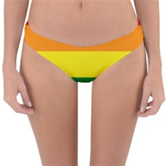 Pride Rainbow Flag Reversible Hipster Bikini Bottoms by Valentinaart