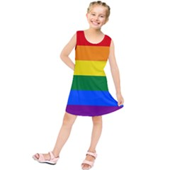 Pride Rainbow Flag Kids  Tunic Dress by Valentinaart