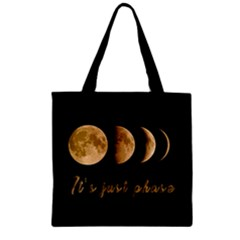 Moon Phases  Zipper Grocery Tote Bag