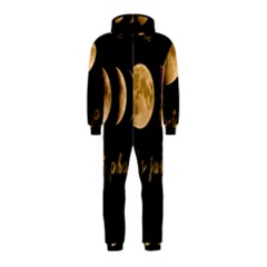 Moon Phases  Hooded Jumpsuit (kids)