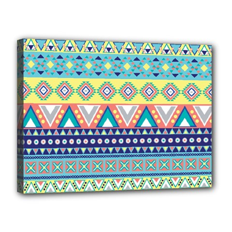 Tribal Print Canvas 16  X 12  by BangZart