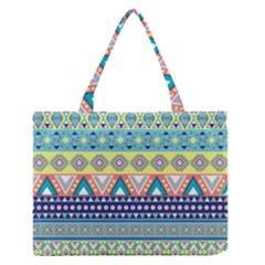 Tribal Print Medium Zipper Tote Bag by BangZart