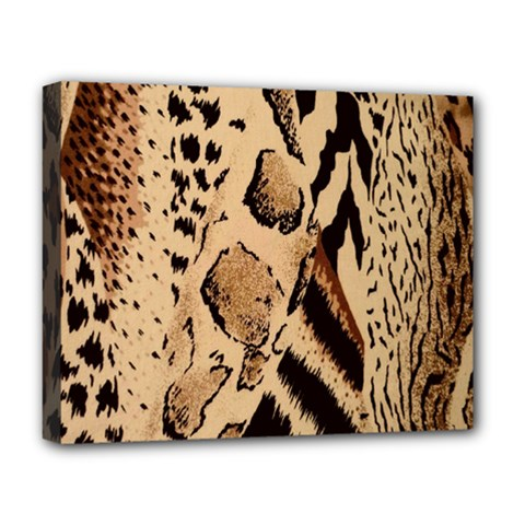 Animal Fabric Patterns Deluxe Canvas 20  X 16   by BangZart