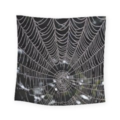 Spider Web Wallpaper 14 Square Tapestry (small) by BangZart