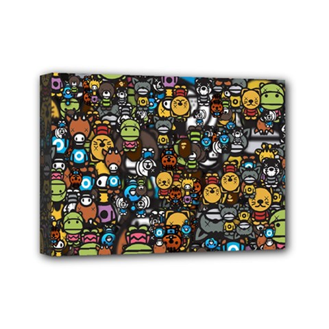 Many Funny Animals Mini Canvas 7  X 5  by BangZart