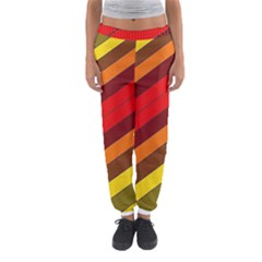 Abstract Bright Stripes Women s Jogger Sweatpants by BangZart