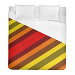 Abstract Bright Stripes Duvet Cover (full/ Double Size) by BangZart