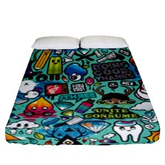 Comics Fitted Sheet (queen Size) by BangZart