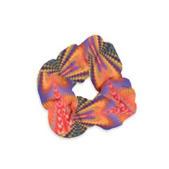 Casanova Abstract Art Colors Cool Druffix Flower Freaky Trippy Velvet Scrunchie