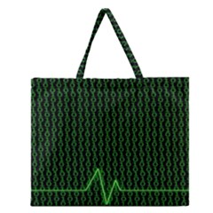 01 Numbers Zipper Large Tote Bag by BangZart
