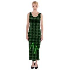 01 Numbers Fitted Maxi Dress by BangZart