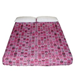 Abstract Pink Squares Fitted Sheet (queen Size) by BangZart