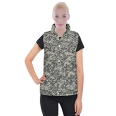 Us Army Digital Camouflage Pattern Women s Button Up Puffer Vest