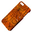 Vector Seamless Pattern With Spider Web On Orange Apple iPhone 5 Hardshell Case with Stand View4