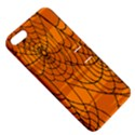 Vector Seamless Pattern With Spider Web On Orange Apple iPhone 5 Hardshell Case with Stand View5