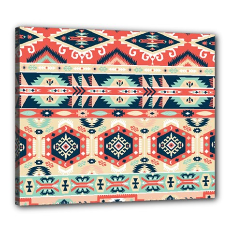 Aztec Pattern Copy Canvas 24  X 20  by BangZart