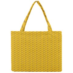 Yellow Dots Pattern Mini Tote Bag by BangZart