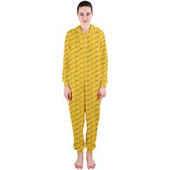 Yellow Dots Pattern Hooded Jumpsuit (ladies)