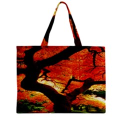 Maple Tree Nice Zipper Mini Tote Bag by BangZart