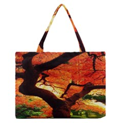 Maple Tree Nice Medium Zipper Tote Bag by BangZart