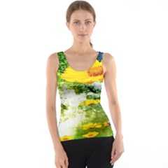 Yellow Flowers Tank Top by BangZart