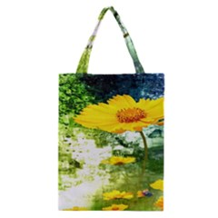 Yellow Flowers Classic Tote Bag by BangZart