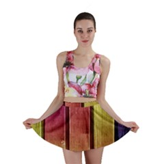 Colourful Wood Painting Mini Skirt by BangZart