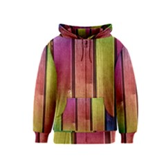 Colourful Wood Painting Kids  Zipper Hoodie