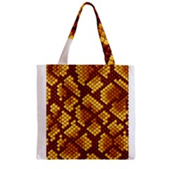 Snake Skin Pattern Vector Zipper Grocery Tote Bag by BangZart