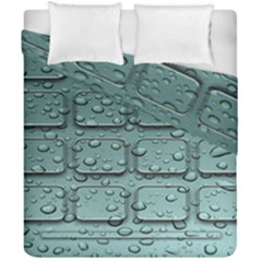 Water Drop Duvet Cover Double Side (california King Size) by BangZart
