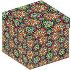 Jewel Tiles Kaleidoscope Storage Stool 12   by WolfepawFractals
