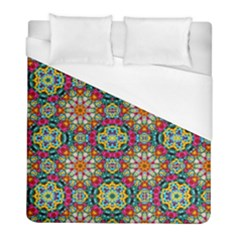 Jewel Tiles Kaleidoscope Duvet Cover (full/ Double Size) by WolfepawFractals