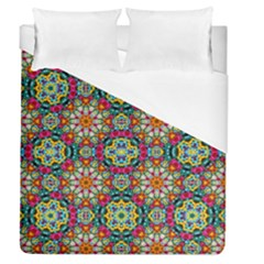 Jewel Tiles Kaleidoscope Duvet Cover (queen Size) by WolfepawFractals