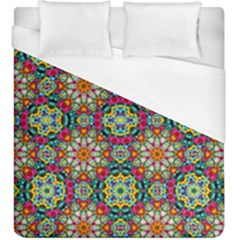 Jewel Tiles Kaleidoscope Duvet Cover (king Size) by WolfepawFractals