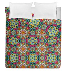 Jewel Tiles Kaleidoscope Duvet Cover Double Side (queen Size) by WolfepawFractals